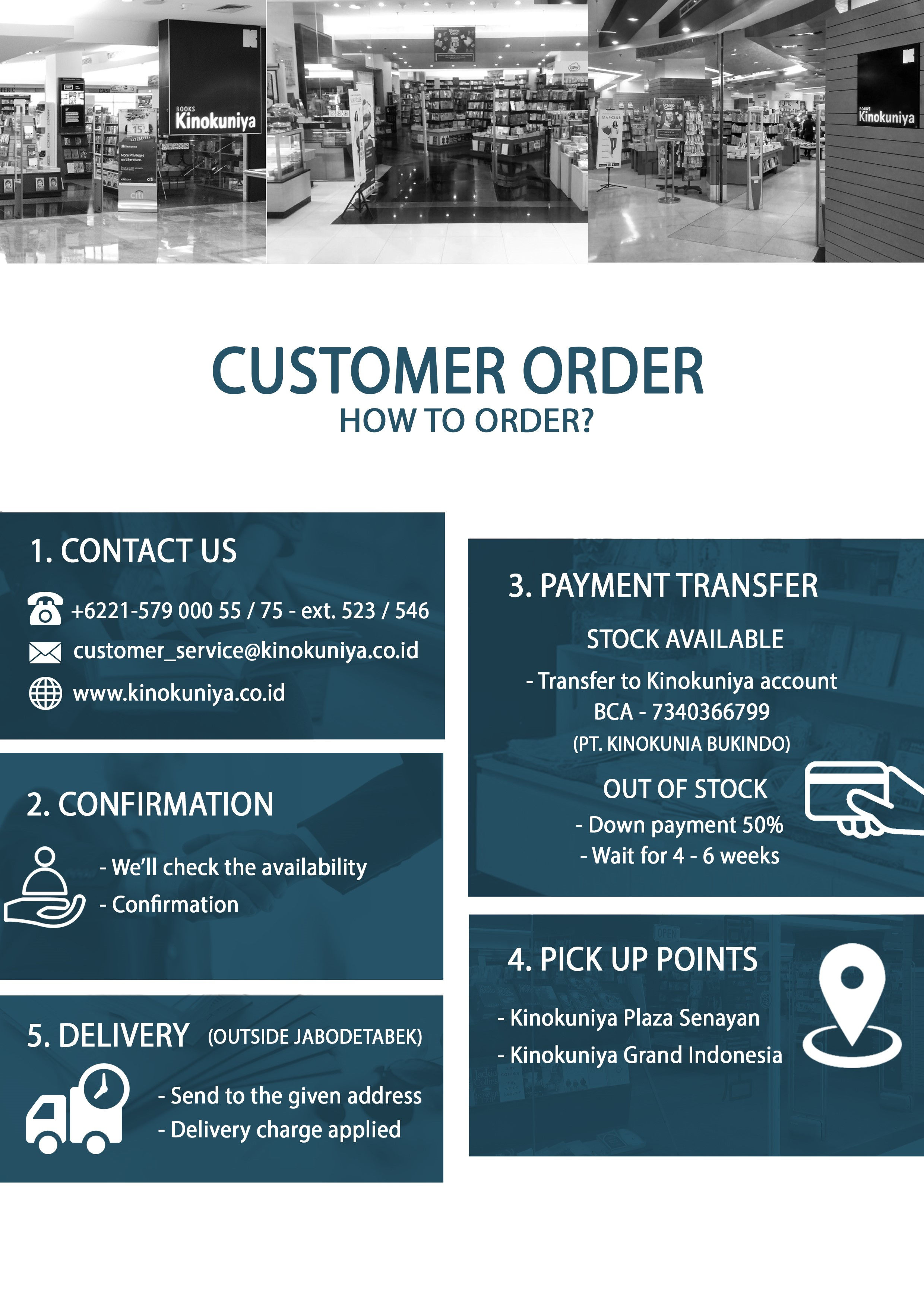 How to Order Kinokuniya Indonesia